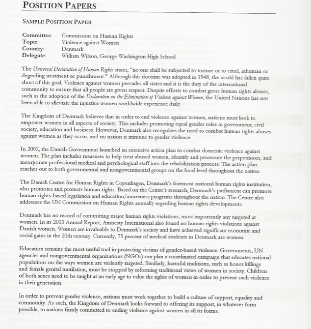 position paper on hos Position paper on the sex trafficking of women and girls in the and alfred i dupont hospital for position paper on the sex trafficking of.