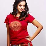 Bhavana Bhavana Bright in Red Dress  Cute Photos