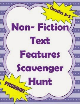 http://www.teacherspayteachers.com/Product/Non-Fiction-Text-Features-Scavenger-Hunt-Intermediate-Grades-3-5-1211595