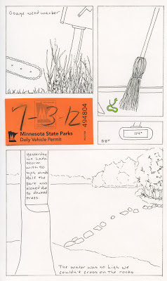 page from artist journal itasca park