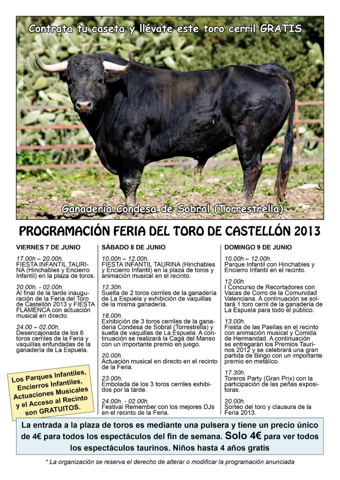 feria de toros de castellon: