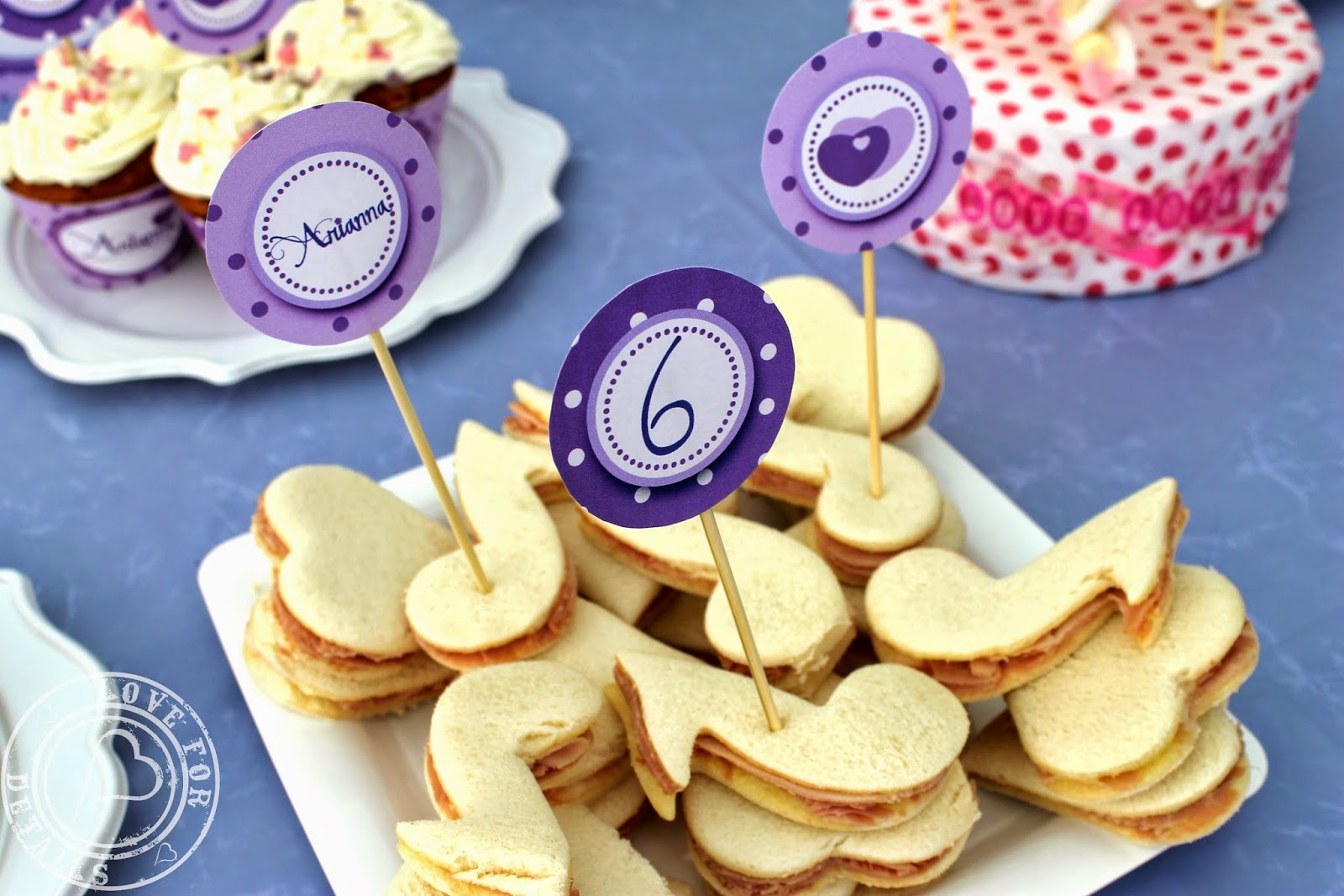 Violetta party sandwiches