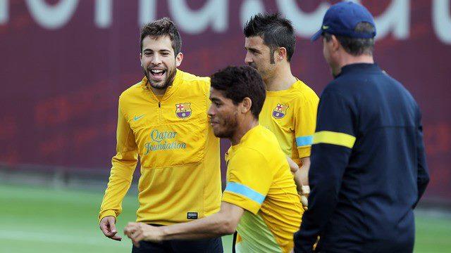 Fotos del entrenamiento del Barcelona