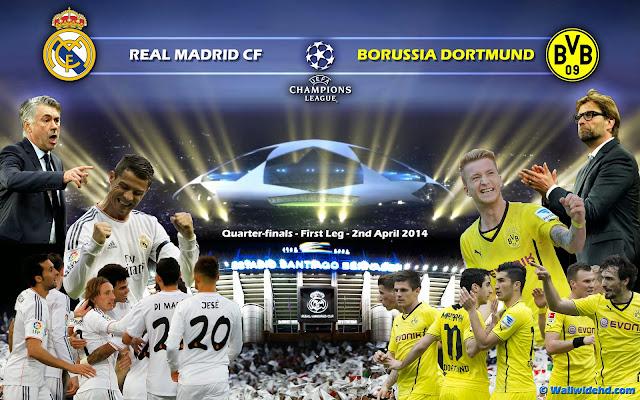 Prediksi Pertandingan Real Madrid vs Borussia Dortmund