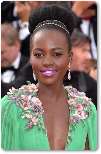 Maquillaje de Lupita Nyong'o del Festival de Cannes 2015 por Lancôme