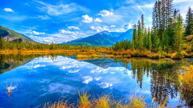 lagos y montañas Coloridos Paisajes Naturales