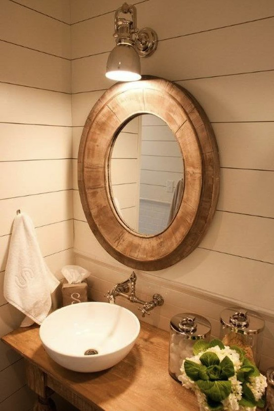 30 cool bathroom lighting over oval mirror