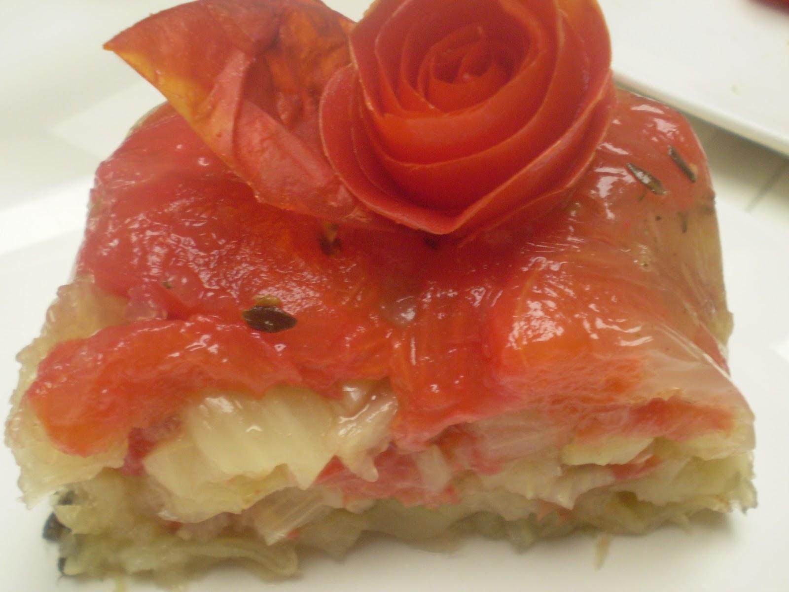 Aspic de fenouil et de tomates à la provençale