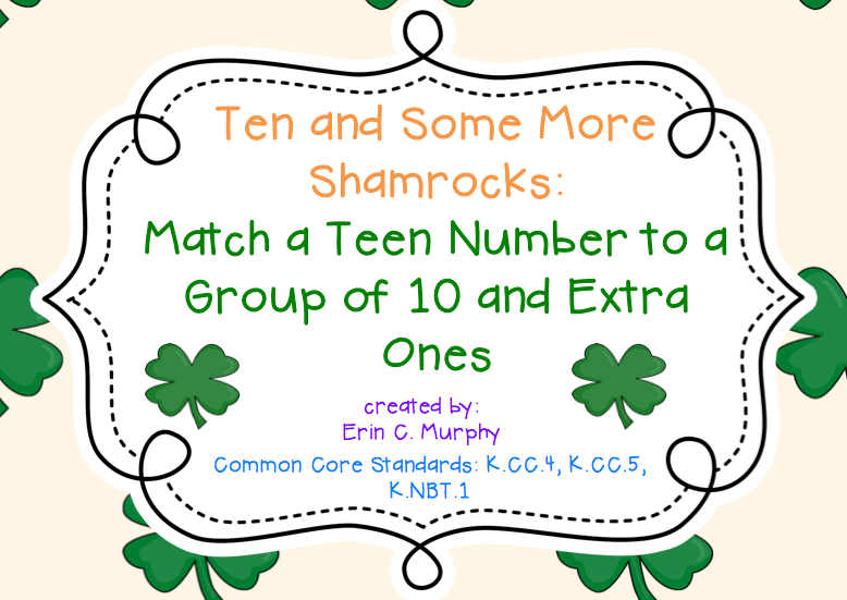 http://www.teacherspayteachers.com/Product/Ten-and-Some-More-Shamrocks-1145691