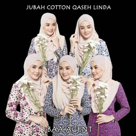 Klasik & Elegan Dengan Jubah Cotton High Gred Quality Qase Linda