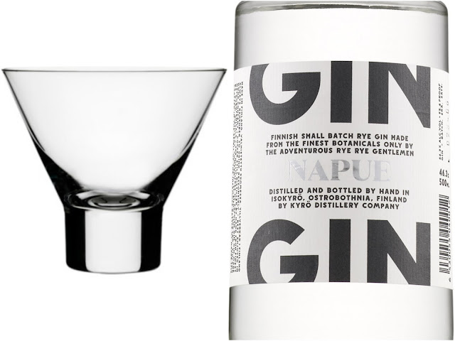 Aarne Cocktaillasi ja Kyrö Napue Gin - www.blancdeblancs.fi