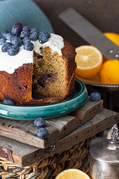 Lemon Amp Blueberry Cake With Poppy Seeds No Flour No
