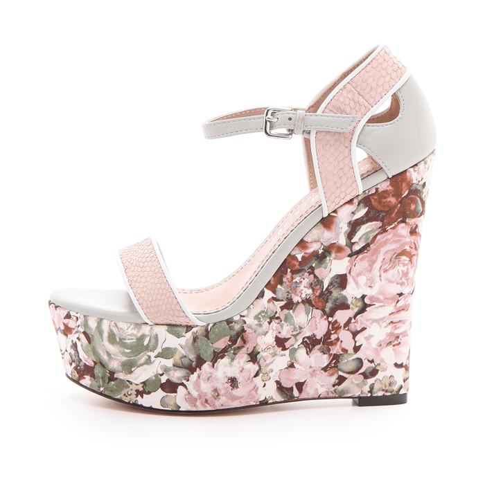 Jean-Michel Cazabat Tani Floral Wedge (60% off!)