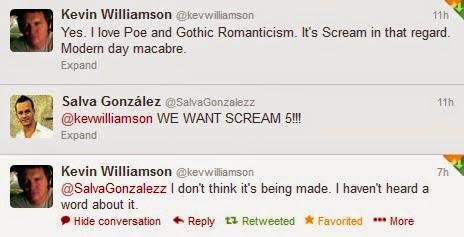 Kevin Williamson no escribirá 'Scream 5'
