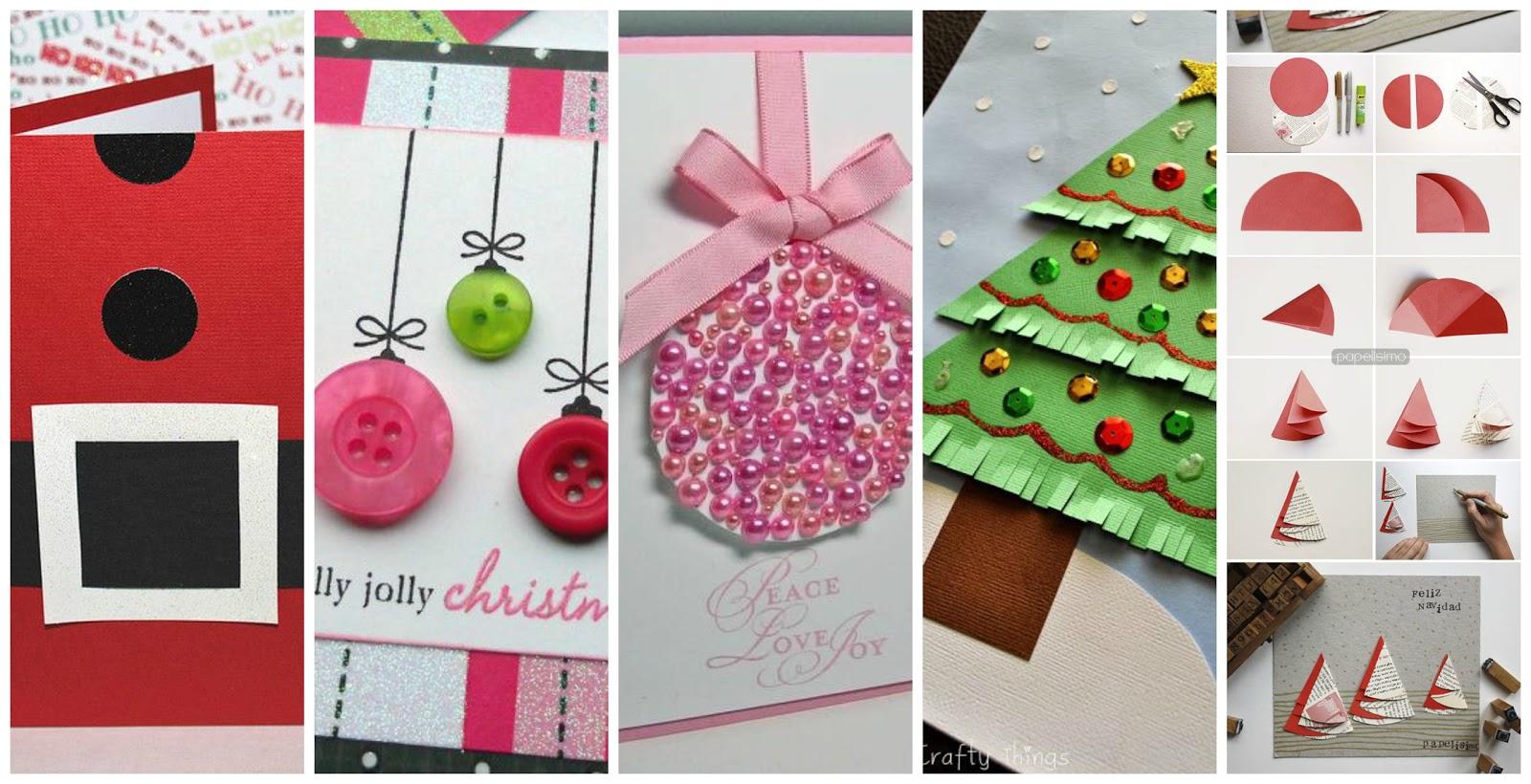 Reciclando con erika 7 tarjetas de navidad y 3 v deos - Manualidades postales navidad ...
