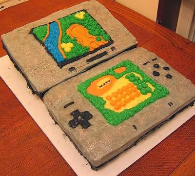 Bánh gato kem hình Video game