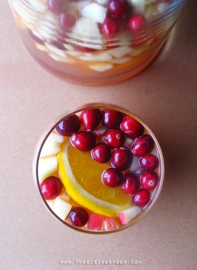 Cranberry, Orange & Apple White Wine Sangria Recipe