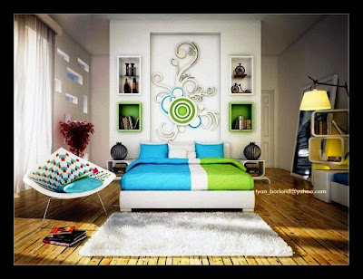 abstract bedroom painting ideas