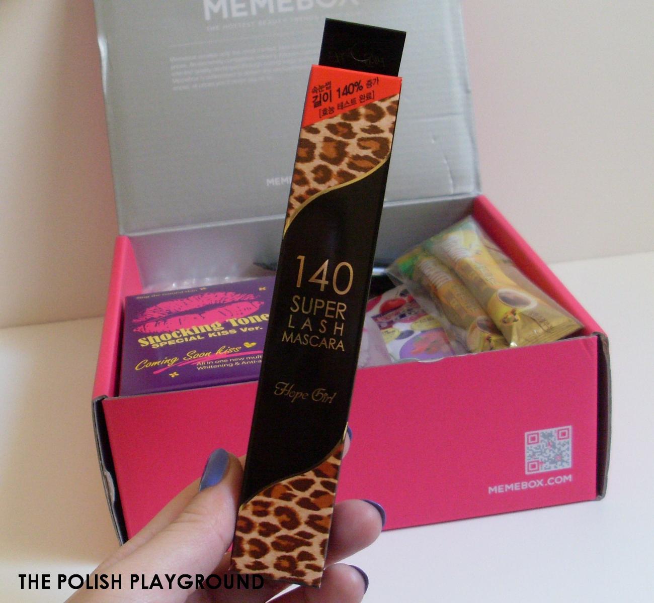 Memebox Office Essentials Unboxing - Hope Girl 140 Super Lash Mascara