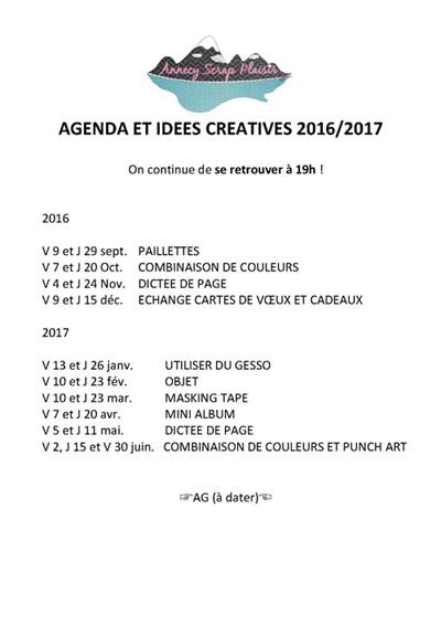 DATES 2016-2017