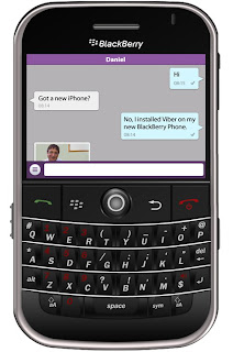 Famous image of Viber app on Blackberry Bold