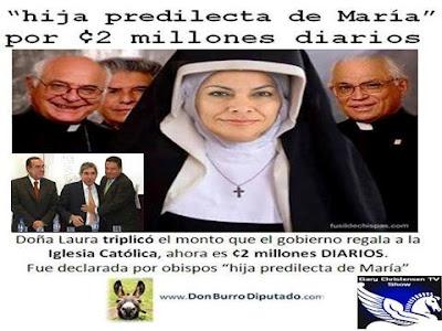 Laura Chinchilla, hija predilecta de Maria por 2 millones de colones diarios.