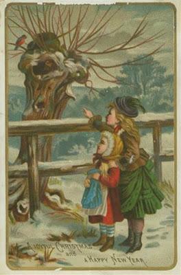 Landscape Victorian Christmas Card