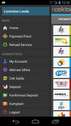 Menu (sidebar) - aplikasi bayar tagihan pln internet telkom beli pulsa di android (rev-all.blogspot.com)\