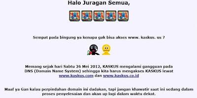 Forum Kaskus.Us Tidak Bisa Diakses