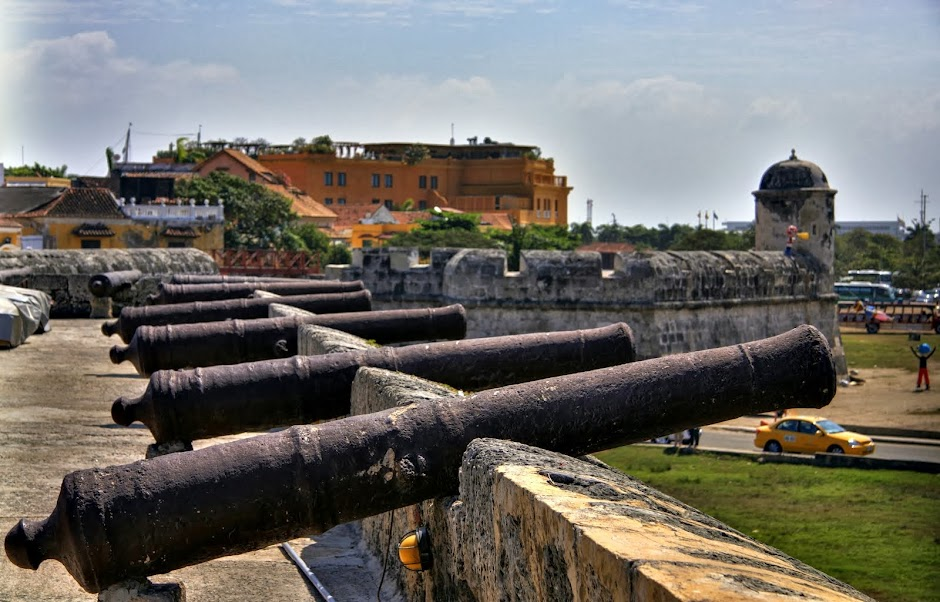 Canons on the colonial wall
