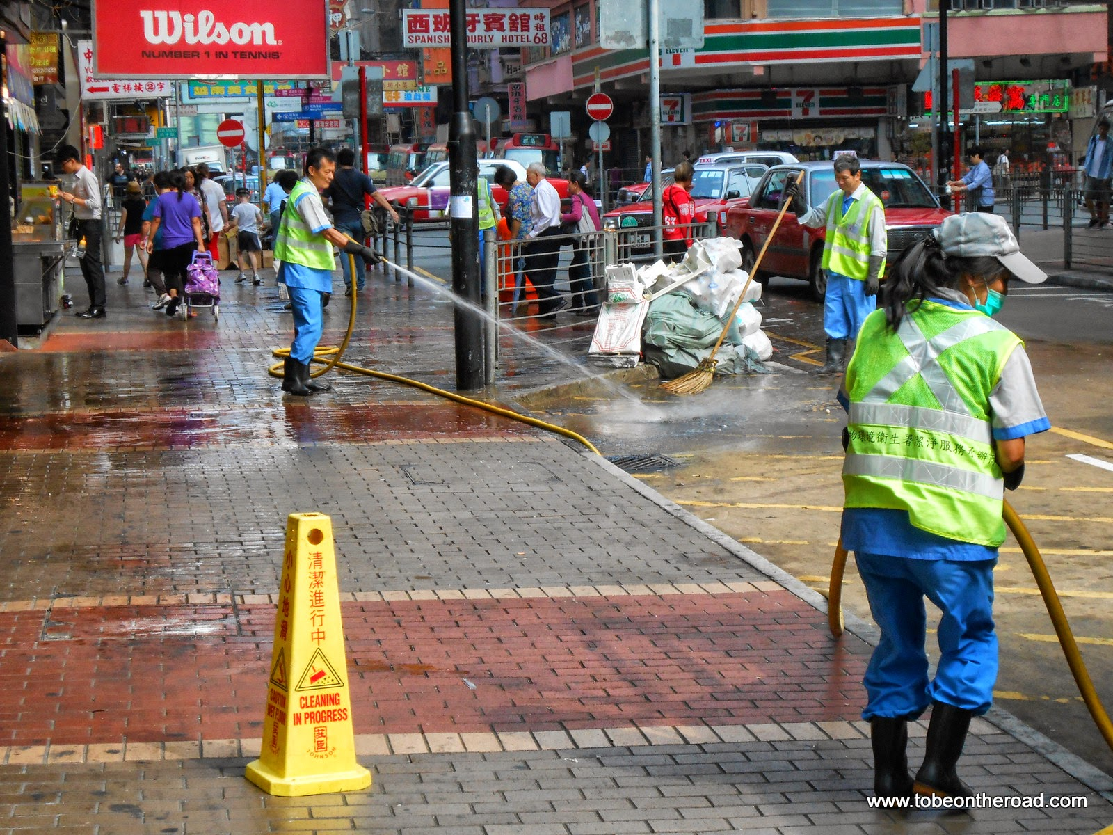 Hongkong, Road Cleaning, Foot path, Gandhi World Foundation,