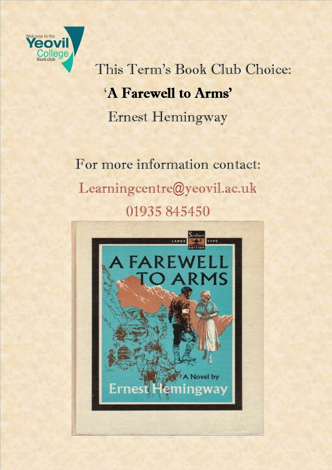an overview of the novel a farewell to arms by ernest hemingway A farewell to arms ernest hemingway ny: charles schribner's sons i do recall that after writing analyses of each novel and the chosen stories.