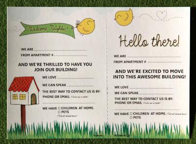 Welcome neighbor birdie card image