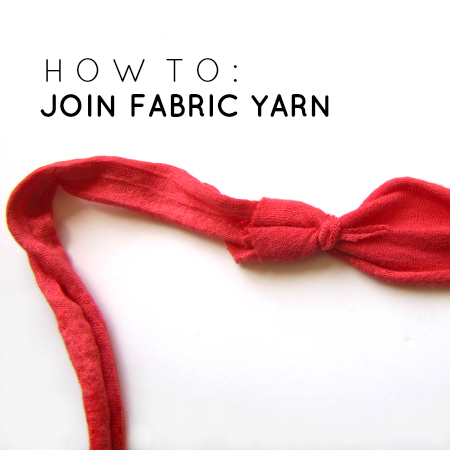 Crocheting How To Join Yarn : The Haby Goddess: How to: Join fabric yarn