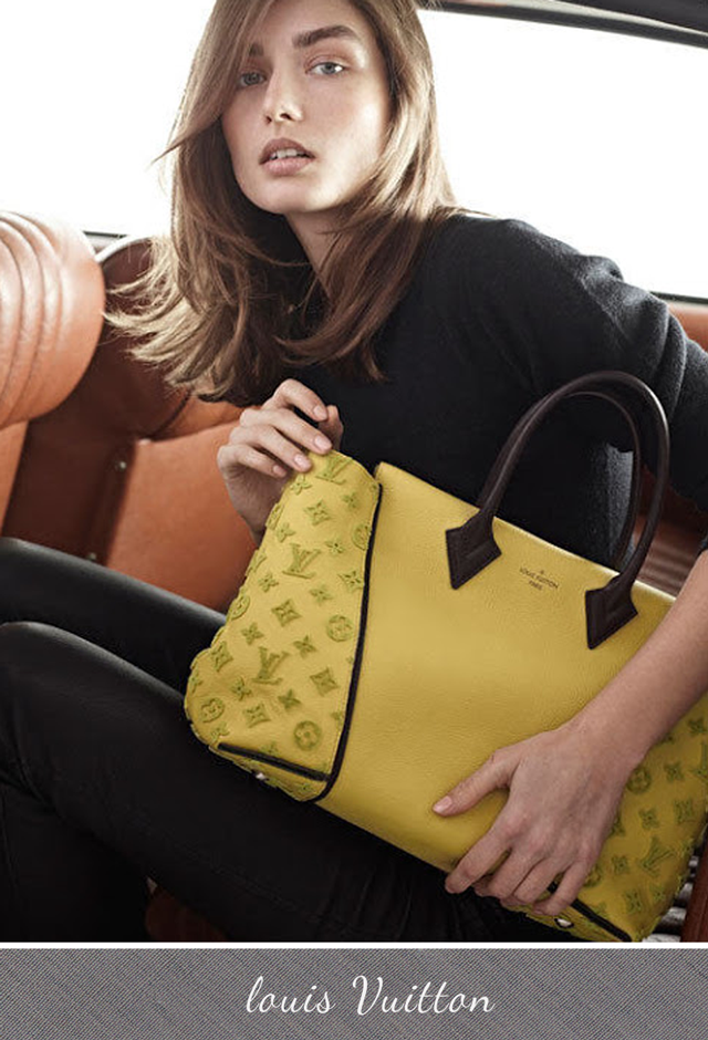 Louis Vuitton Fall Winter 2013 Bag yellow monogram and leather W bag