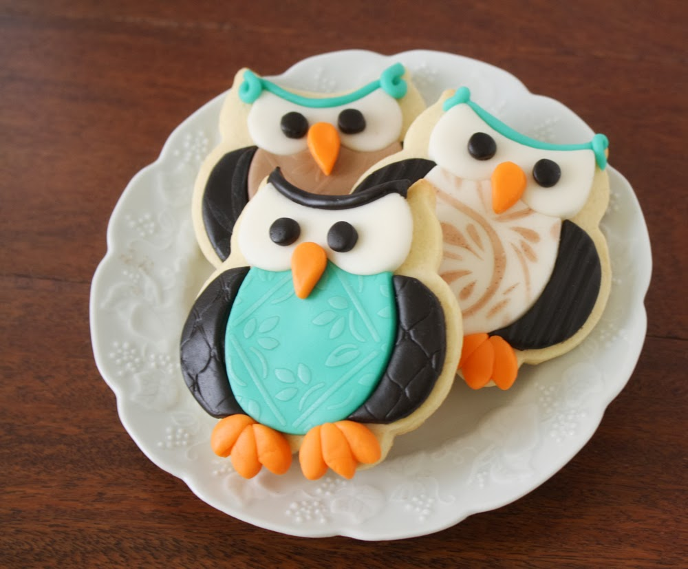 Owl Decorated Cookies Textured Owls Cookie Tutorial Klickitat Street