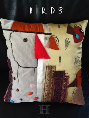 how to make a birds cushion