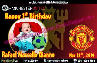 Thanks Card MU Club Bola Manchaster United Sample Tema Design Thanks Card (Kartu Ucapan Terima Kasih)