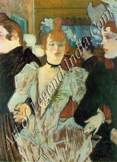 "The Great Artist Henri de Toulouse-Lautrec ""La Goulue at the Moulin Rouge"" 1891-92 Oil on cardboard, 31¼"" x 23¼"" Collection, The Museum of Modern Art, New York"