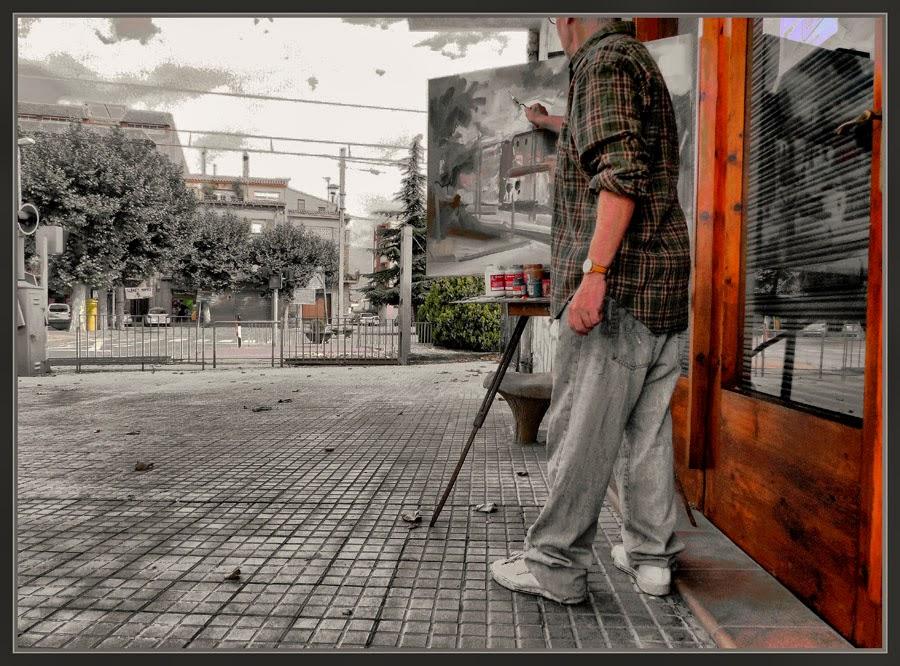 SANT GUIM DE FREIXENET-PINTURA-PINTOR-PINTANDO-PAISAJES-ESTACIONES-FERROCARRILES-CATALUNYA-FOTOS-ARTISTA PINTOR-ERNEST DESCALS-