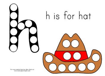 letter h hi is for hatmagnet page