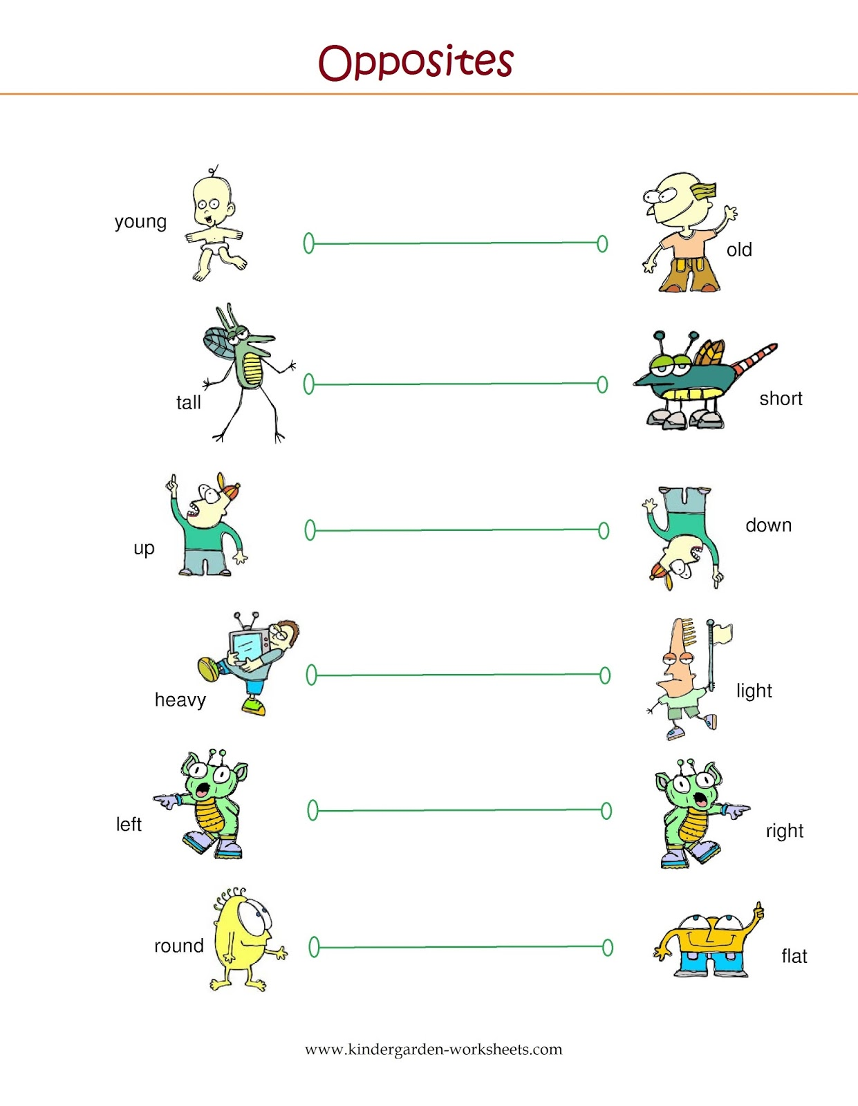 Kindergarten Worksheets Kindergarten Worksheets Opposite Words – Opposites Kindergarten Worksheets