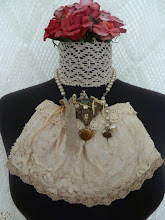Tea Dyed Upcycled Bridal Bag...