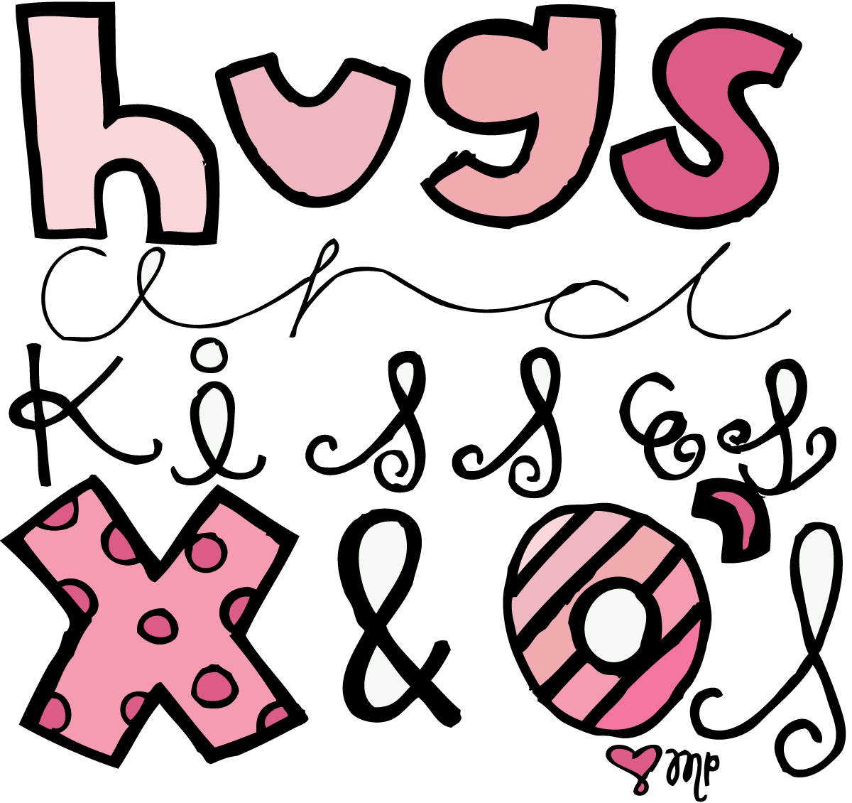 hugs and kisses coloring pages - photo#32
