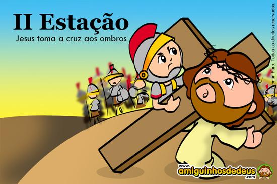 Via Sacra - II Estação: Jesus toma a cruz aos ombros