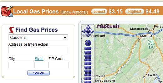 Mapquest Classic: Classic Mapquest Gas Prices