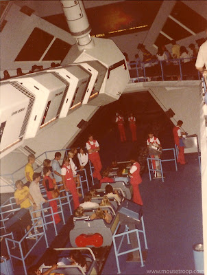 Space Mountain Disneyland 1977 boarding loading station