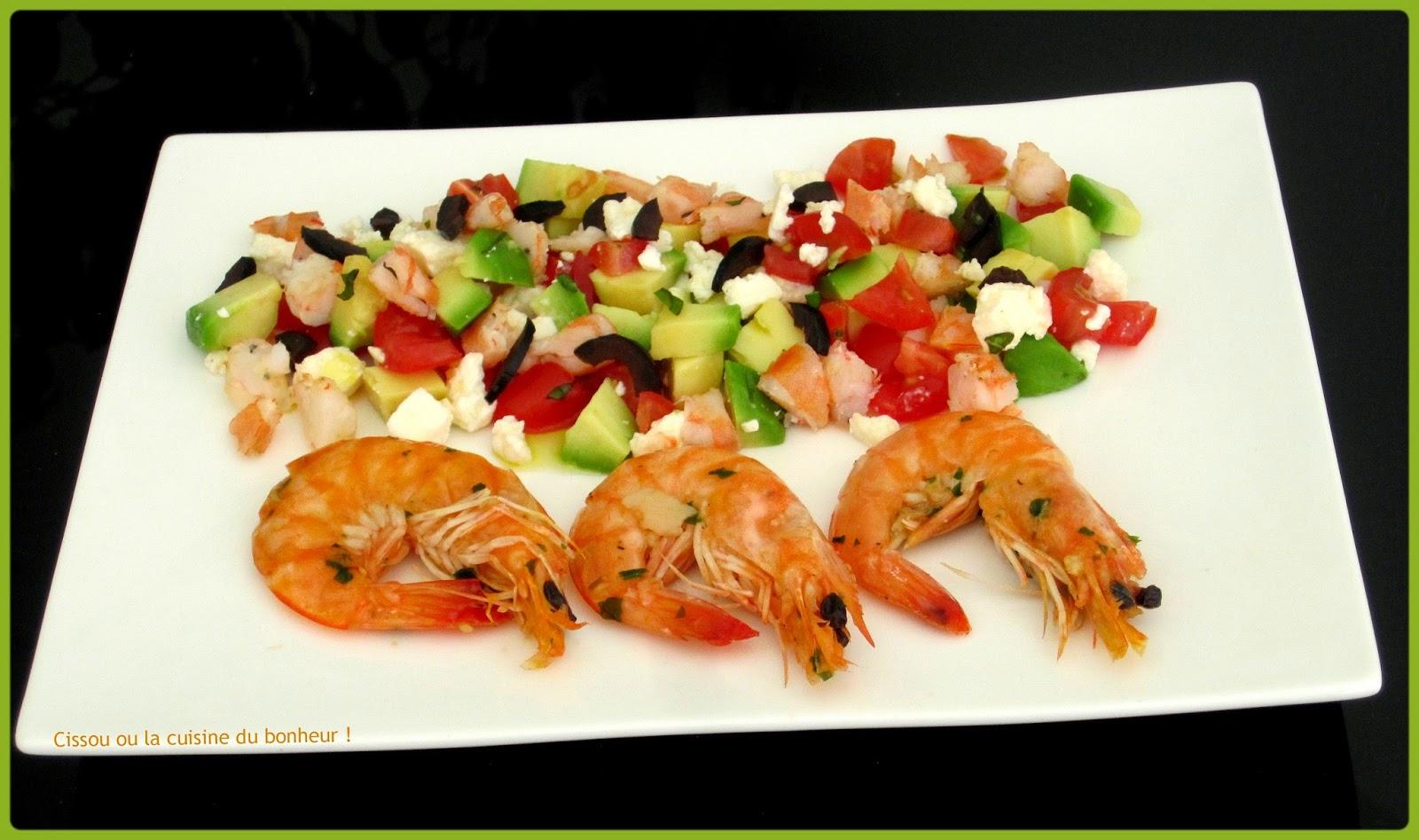 Cissou ou la cuisine du bonheur salade crevettes avocat - La cuisine du bonheur thermomix ...