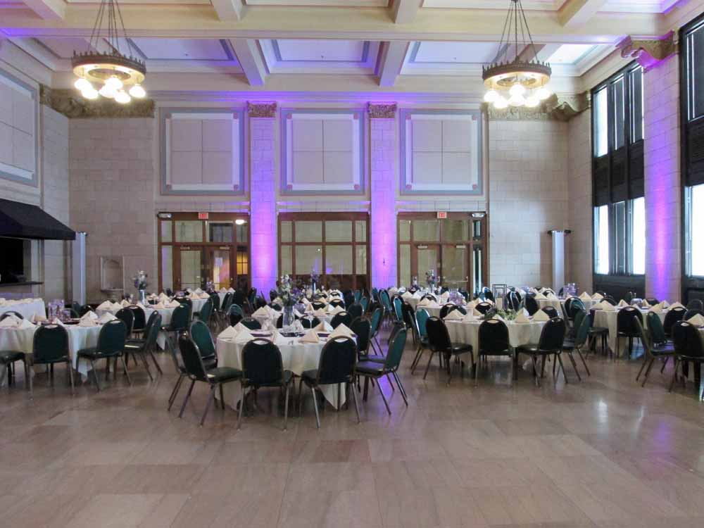 Great Hall In Downtown Lincoln NE Our Decorating Services Are 35 Hour Person We Can Help With The Linens Centerpieces Backdrops And Setup Personal