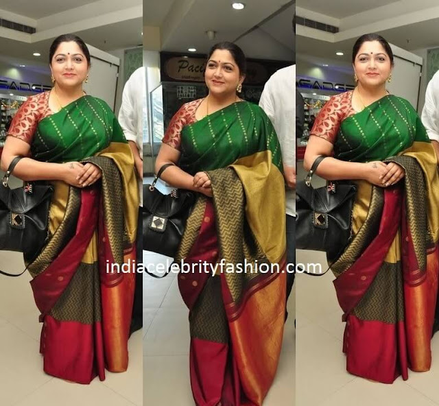 Kushboo in Pattu Saree